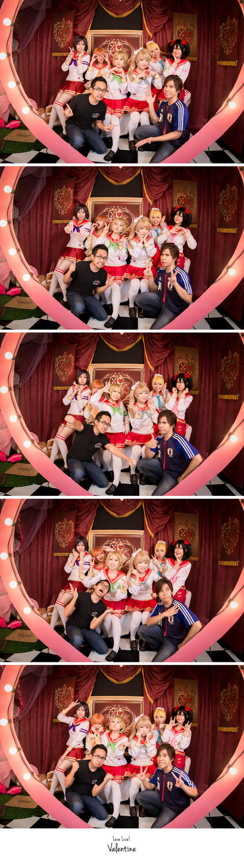 Love Live Valentine Group Shot by fritzfusion