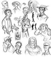 Anansi Boys Sketches by HarpyMarx