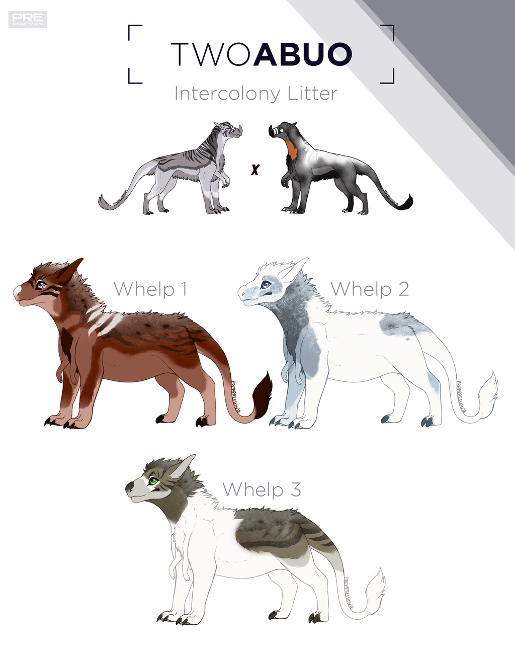 Xiunus - Two x Abuo Litter by preimpression