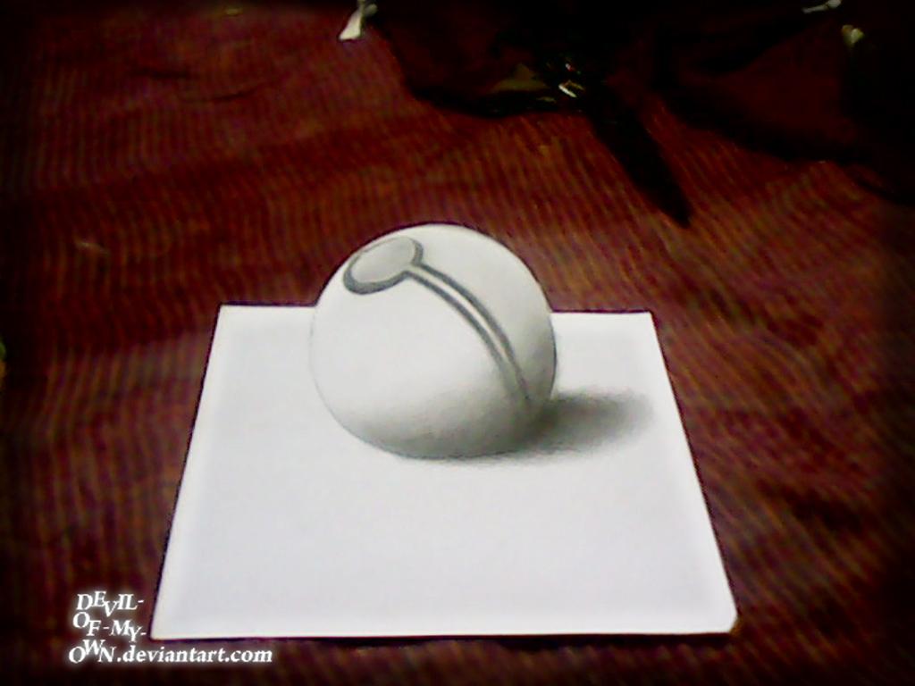 Pokeball .... (3D Drawing) by AnkitDArt