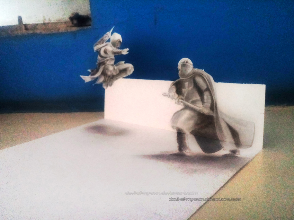 Assassin !!! (3D Drawing) by AnkitDArt