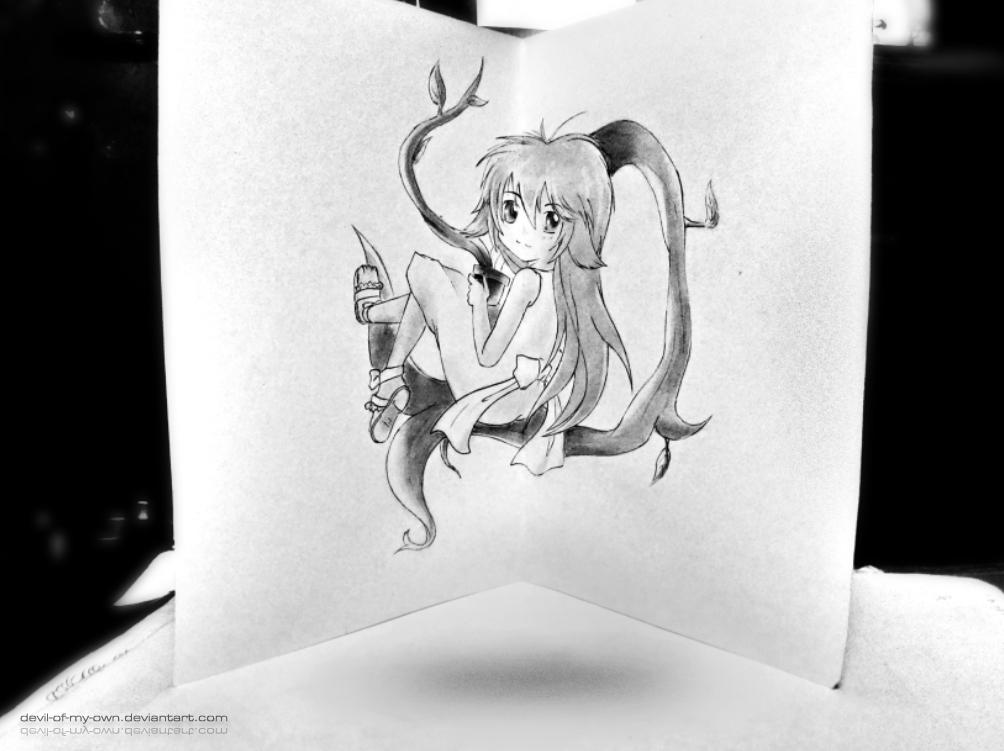 Kusano - Sekirei (3D Drawing) by AnkitDArt