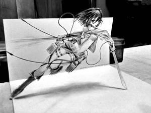 Mikasa Ackerman - 3D Drawing