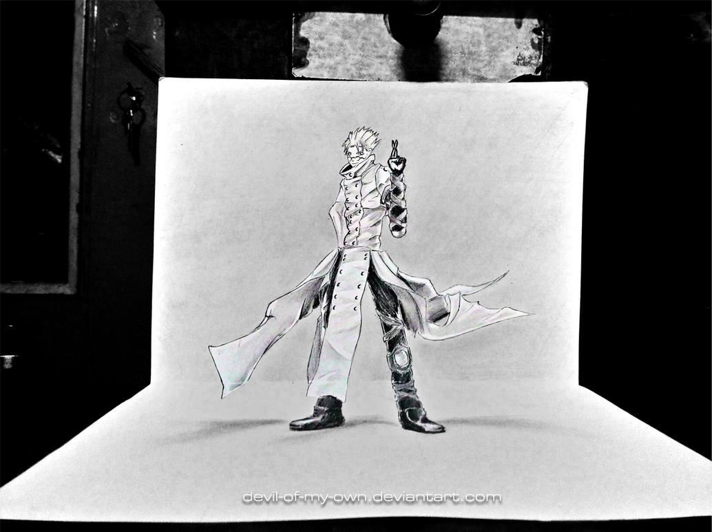 Vash - Trigun (3D Drawing) by AnkitDArt