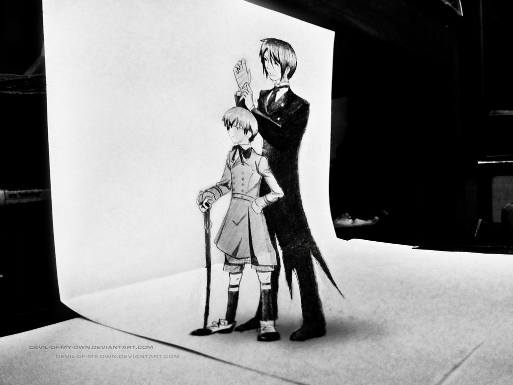 Black Butler - 3D Drawing by AnkitDArt