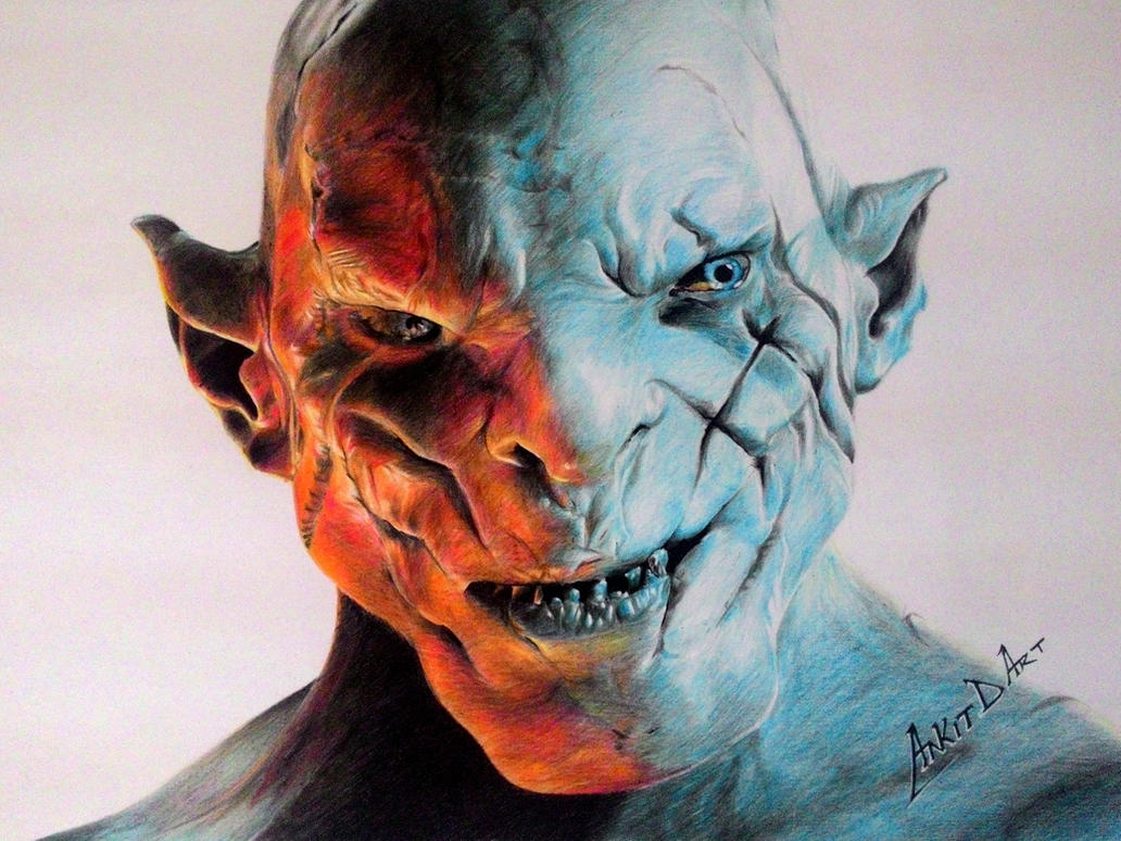Azog - the Defiler by AnkitDArt