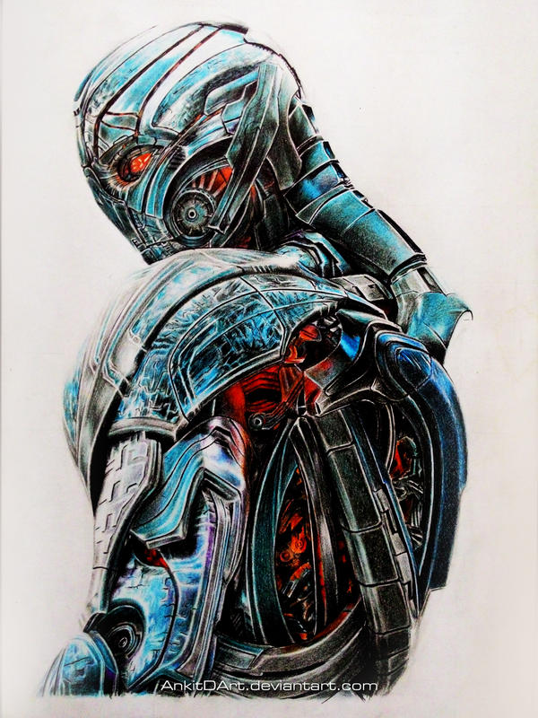 Ultron - Color Pencil Drawing