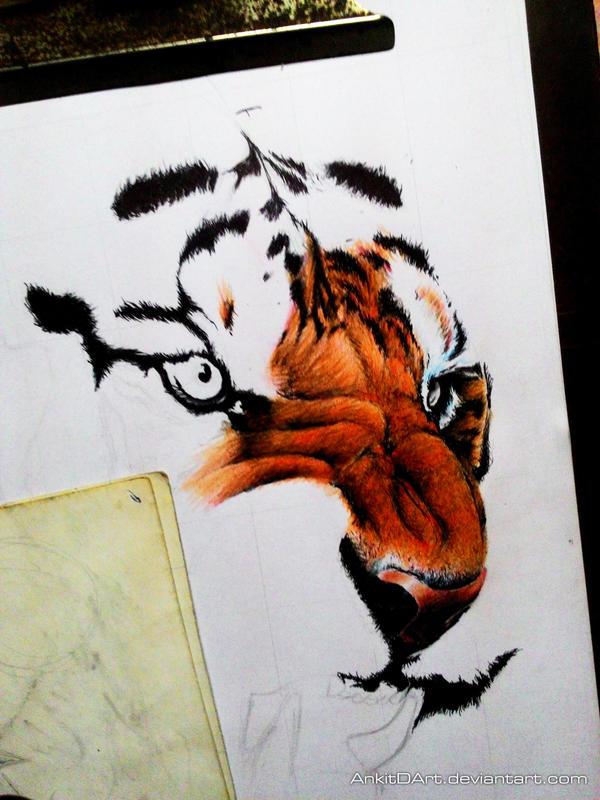 Tiger WIP-1 by AnkitDArt