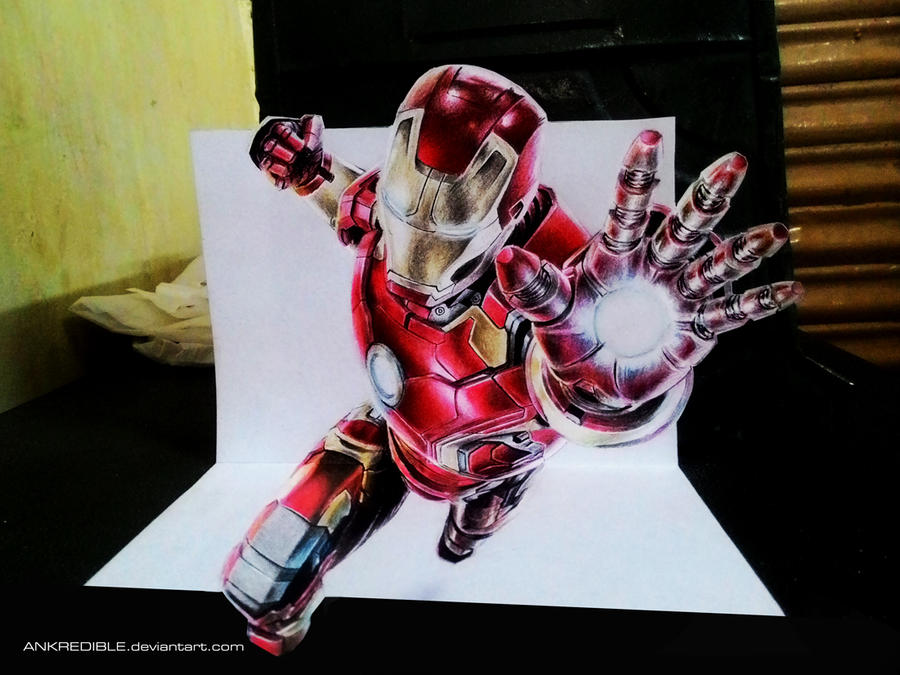 Ironman - 3D drawing by Ankredible on DeviantArt