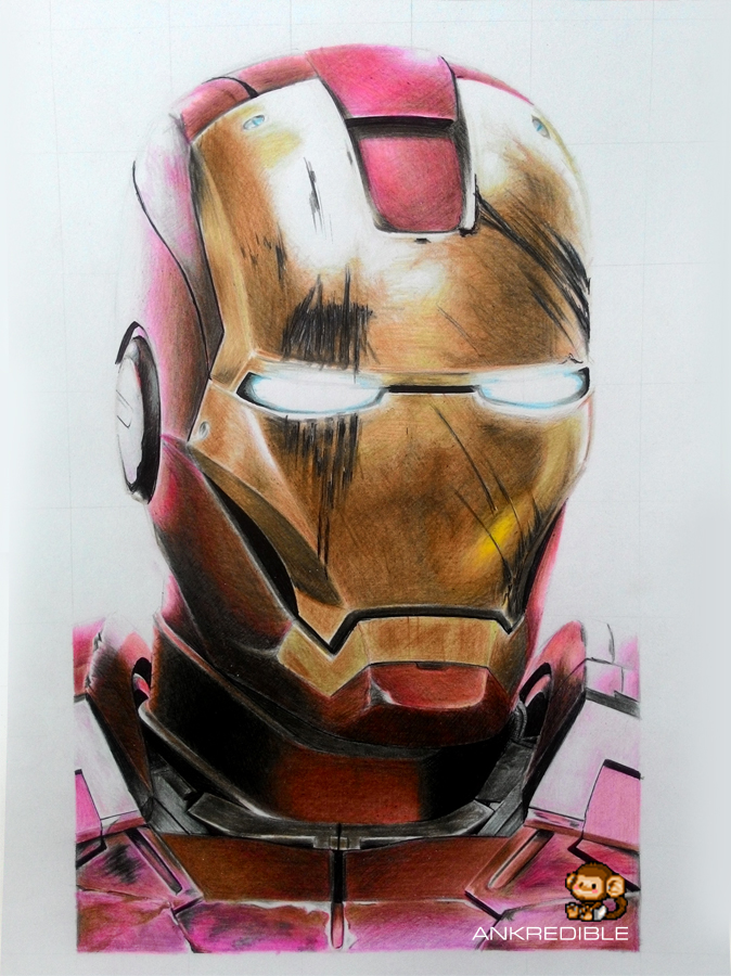Ironman color pencil drawing by ankredible