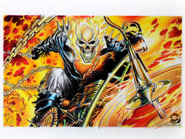 GhostRider (color pencil drawing) by Ankredible