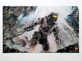 Halo 4 (Color Pencil Drawing)