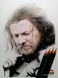 Ned Stark - Game of Thrones (Color Pencil Drawing)