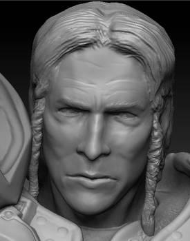 Fanart knight sculpted face
