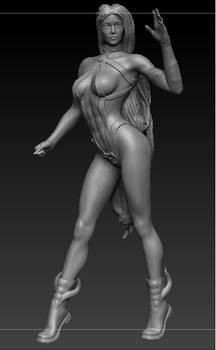 Female figure for 3d prints