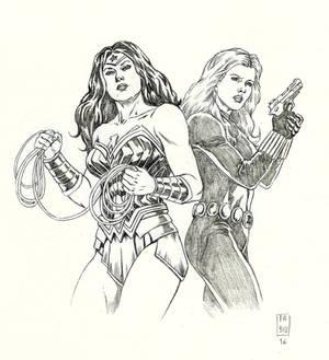 Wonder Woman and Black Widow