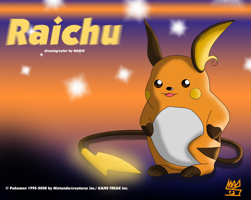 Pokemon: Raichu Wallpaper by Cherrylights on DeviantArt