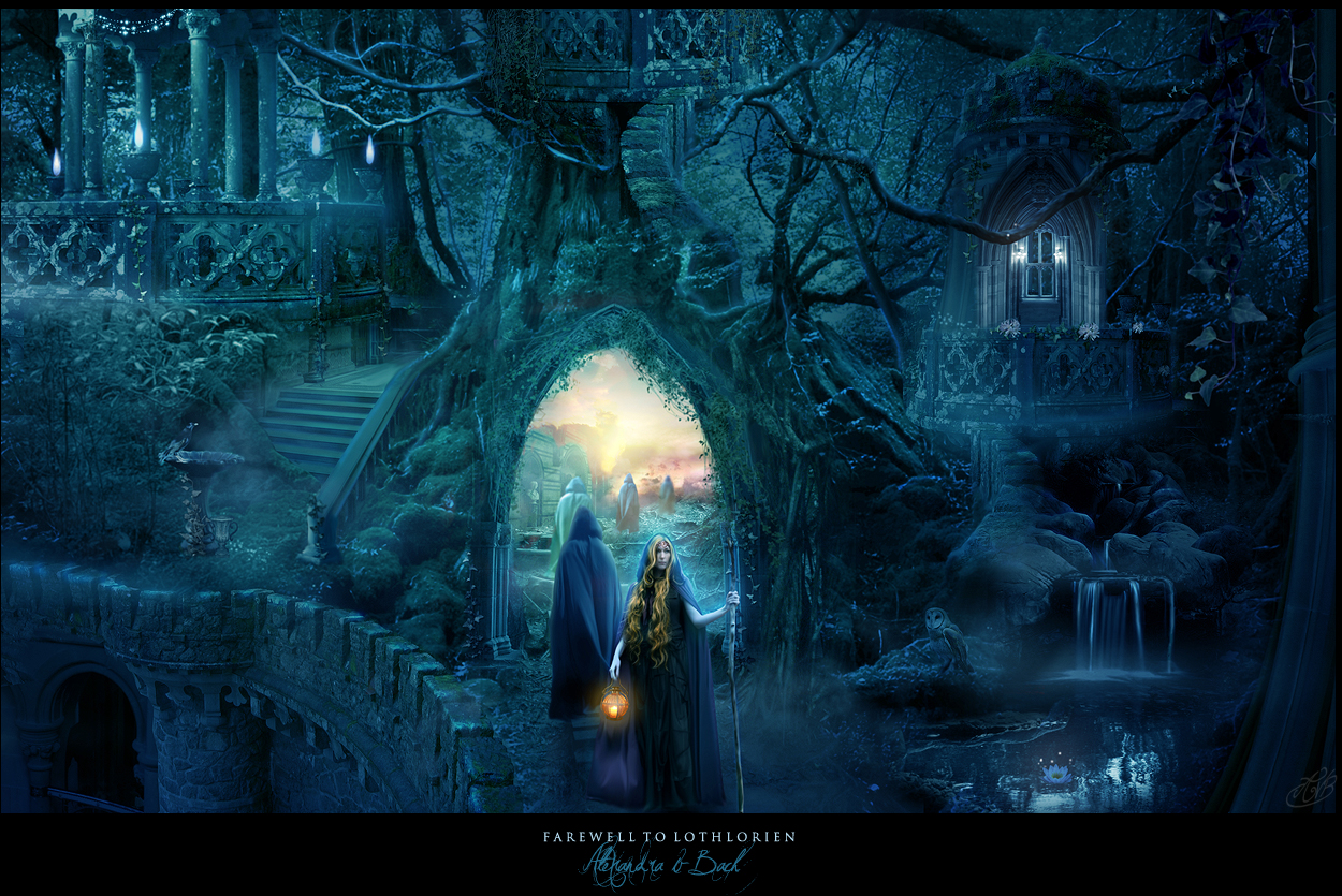 Farewell to Lothlorien by AlexandraVBach