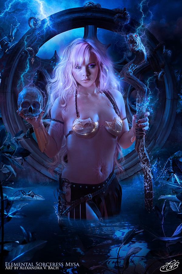 Elemental Sorceress Mysa by AlexandraVBach