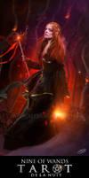 Tarot de la Nuit - Nine of Wands