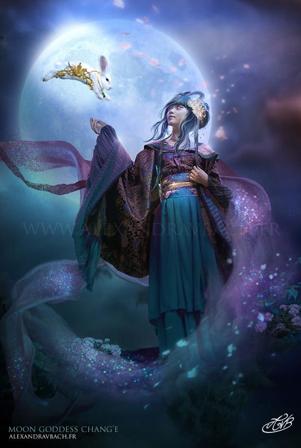 Moon Goddess Chang'e by AlexandraVBach
