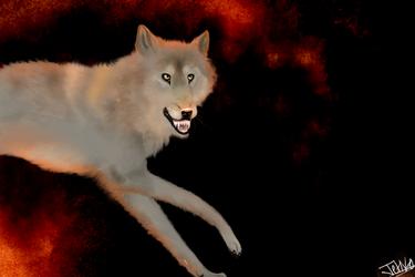 Fire Wolf by Jetago