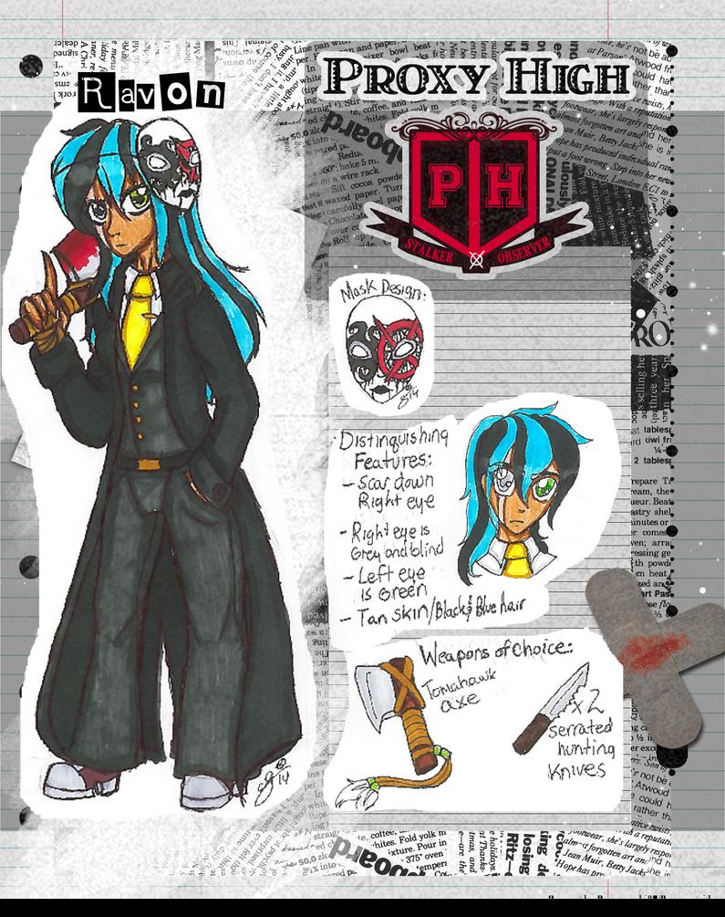 PROXY HIGH STUDENT ID: Ravon by InvaderIka