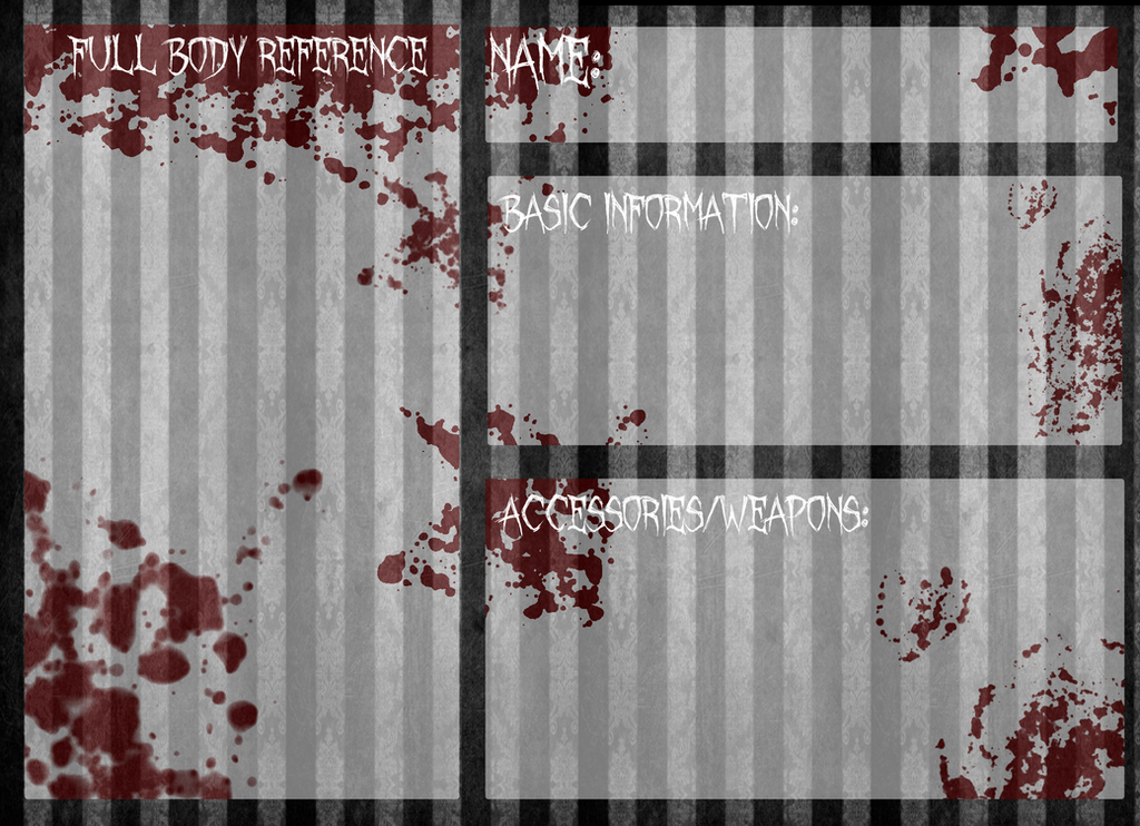 reference template  creepypasta oc reference base by