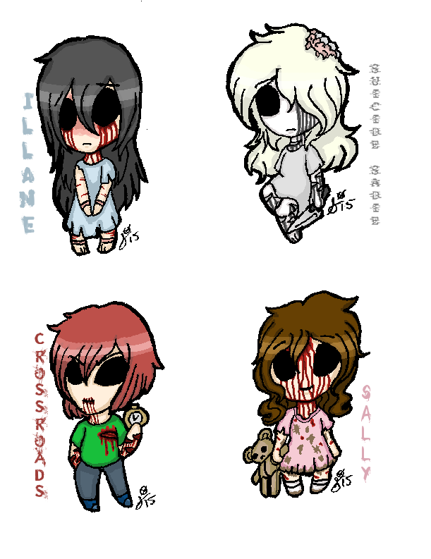 DIGITAL: Chibipasta- Little Ghostie Gals by InvaderIka