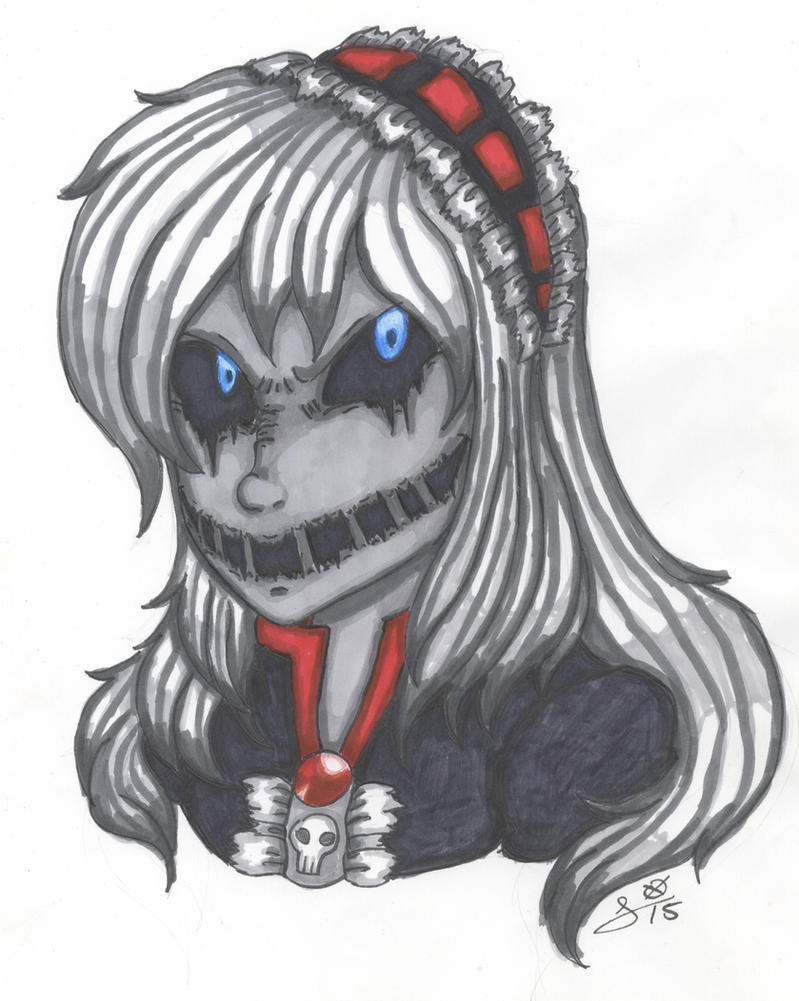 TRADITIONAL: Nightmare Ally Portrait by InvaderIka