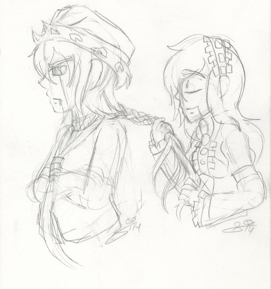 TRADITIONAL SKETCH: Ally's Makeover Session by InvaderIka