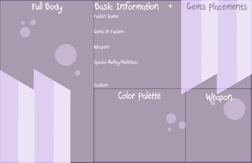 BASE: SU Gem Fusion Ref Template by InvaderIka on DeviantArt