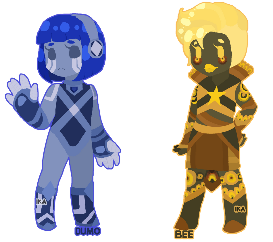 DIGITAL: Gem Cheebs   Dumotierite and Bumblebee by InvaderIka on
