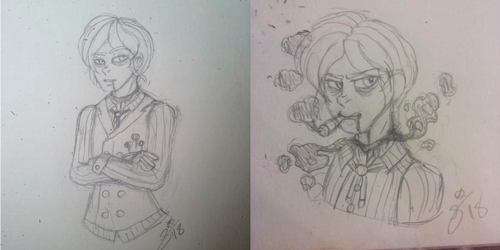 CP OC: Doodles of a Compulsive Gambler by InvaderIka