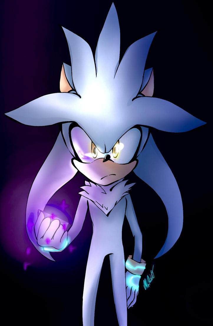 silver the hedgehog by mangamaddee