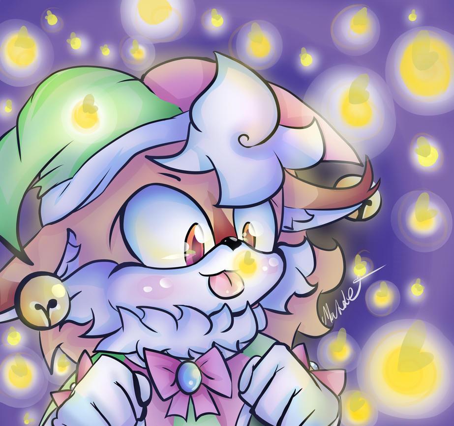 Jingle Foxy and fireflies by mangamaddee