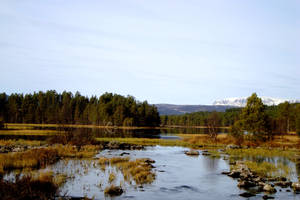 Mountains and a river by Samael-SH0-to-5
