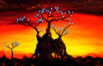 Biomechanic Glowing Tree