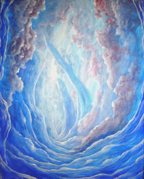 Fantasy Landscape Blue Forest