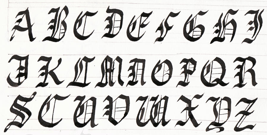 Calligraphy Gothic Capitals By EnigmaticElocution