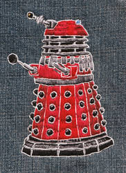 Dalek Embroidery by EnigmaticElocution