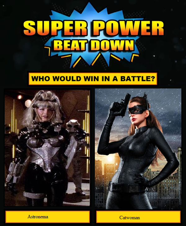 Super power beat down Astronema vs Catwoman by Karaisister