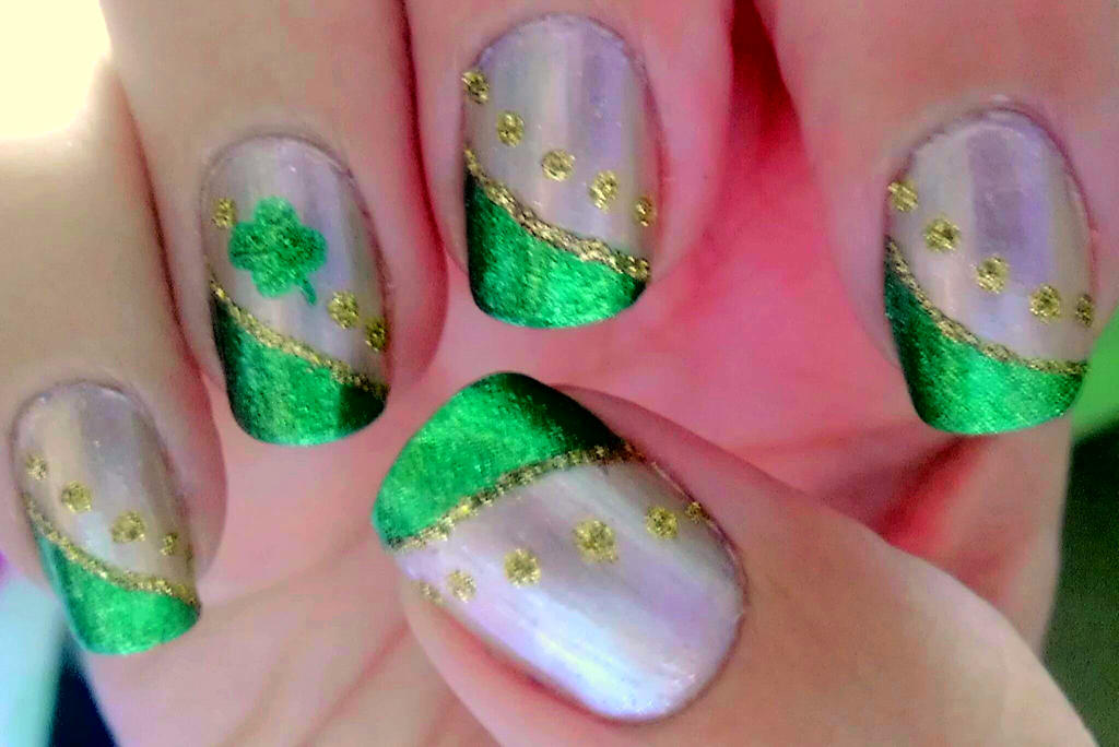Shamrock Nail Art by wolfgirl4716 on DeviantArt