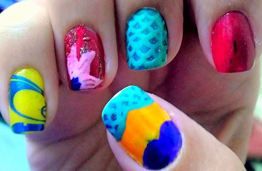 The Little Mermaid Nail Art by wolfgirl4716