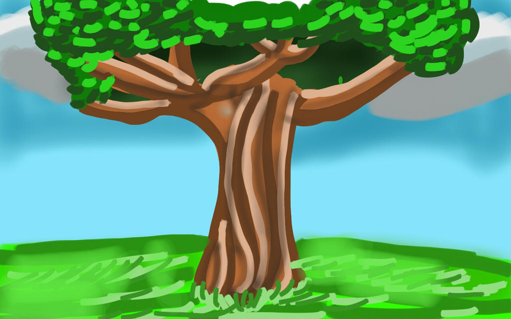 Draw This Challenge 1: 15 minute Tree by YamchaFan91
