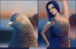Pigeon girl by Darey-Dawn