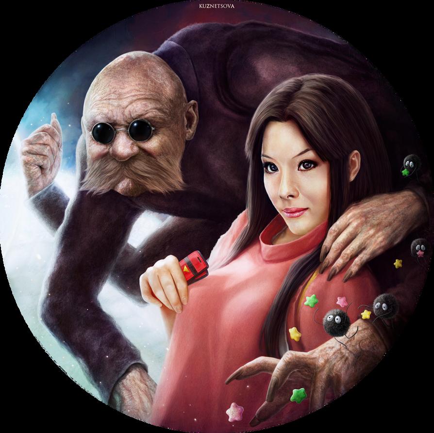 Kamaji and Lin by Darey-Dawn