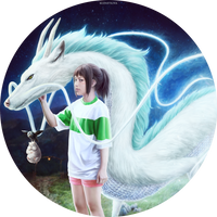 Chihiro, Haku, Boh and Bird by Darey-Dawn