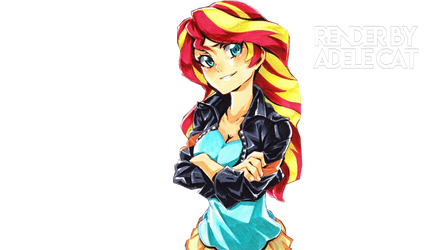 Sunset Shimmer mlp render png vector by xAdelexCatxEditsx