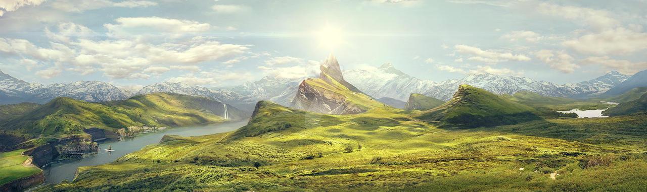 Upsidedown Valley by GiuseppeParisi